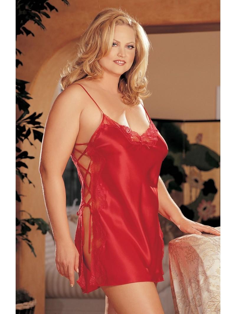 Plus Size Elegant Lace chemise