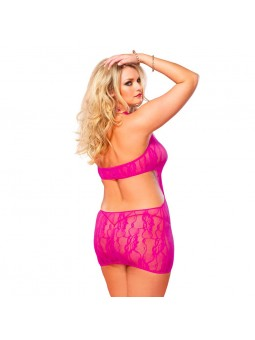 Floral Lace Chemise Pink UK 16 to 18