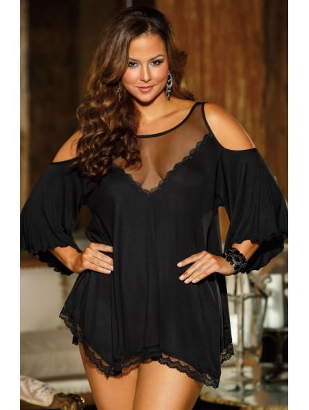 Jersey Knit Sleepshirt - Black