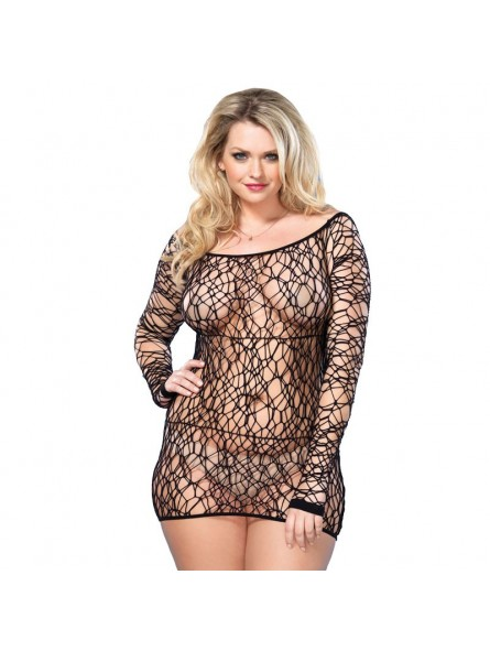 Web Net Mini Dress Black UK 16 to 18