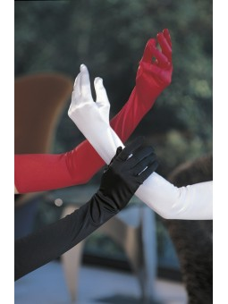 Luxurious stretchy satin spandex gloves