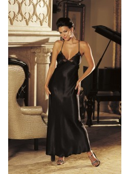 Stunning long gown with lace trimmed cups