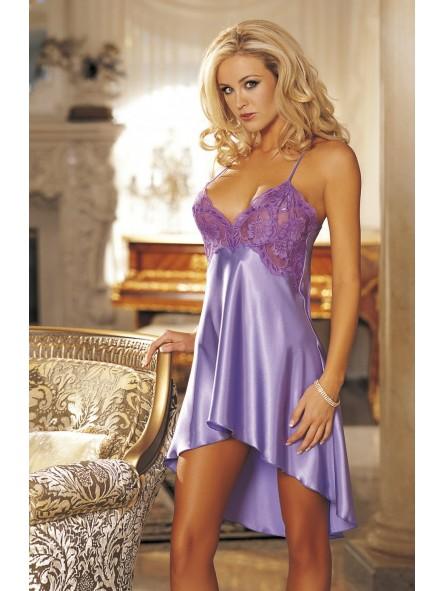 Luxurious charmeuse chemise Lace