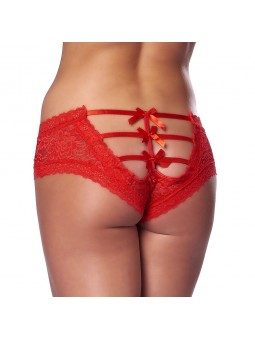 Romantic Black or Red Open Back Briefs