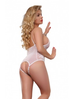 Beautiful floral lace and mesh teddy