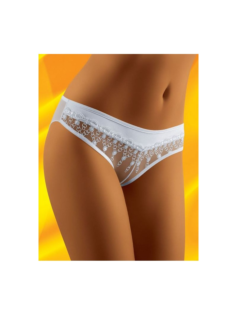 Didu White mini brief with lace.