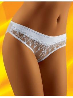 Didu White mini brief with lace.