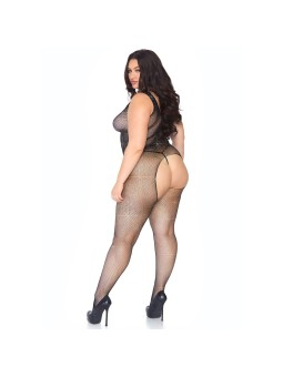 Crystallised Net Body stocking Plus Size UK 18 to 22