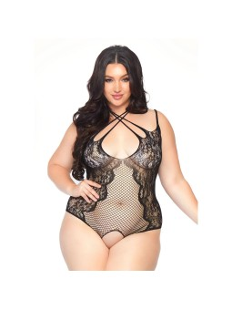 Crotchless Teddy Plus Size UK 18 to 22
