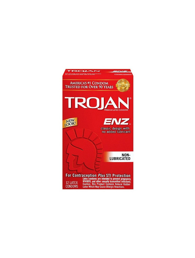 Trojan Regular Condoms 12 Pack Non Lube
