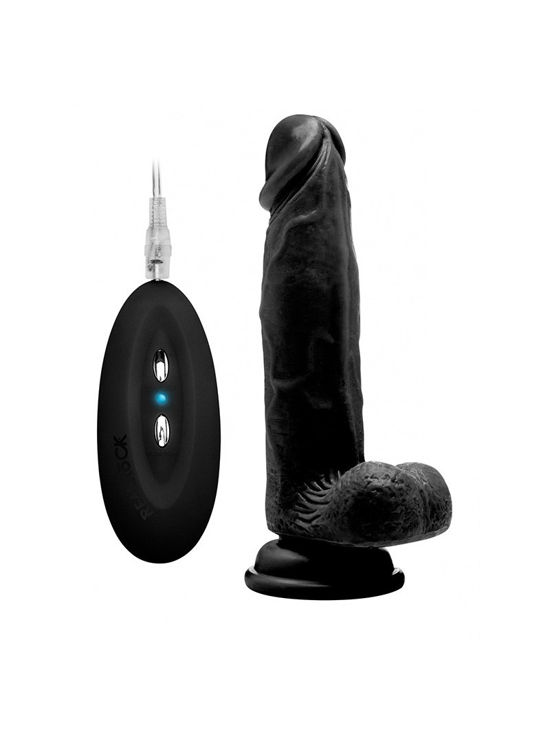 8 Inch Vibrating Realistic Cock With Scrotum