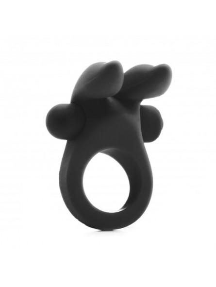 Rabbit Vibrating Cockring Black