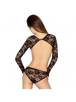 Black floral lace body with cut out sides