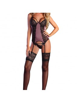 Mauve/aubergine coloured basque