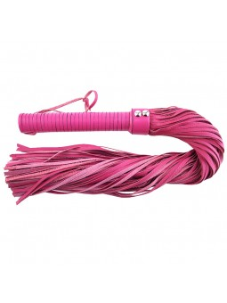 Large Pink Leather Flogger