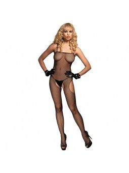 Fishnet Suspender With Open Sides And Crotch