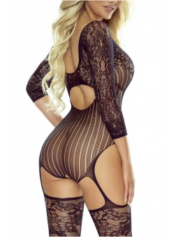 KINKY BODYSTOCKING BLACK
