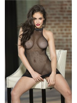 Fishnet Chemise Black Or Pink