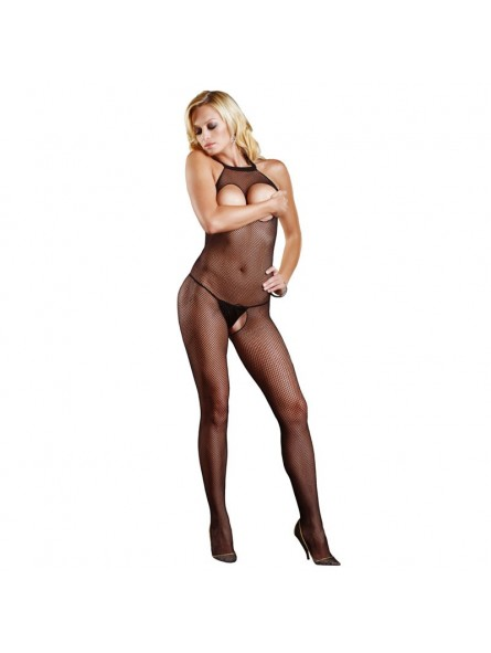 Open Crotch And Bust Fishnet Bodystocking UK 8 to 14