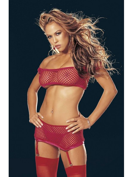 FISHNET 4PC SET RED