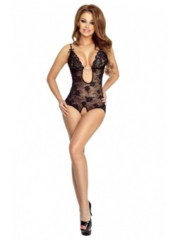 Open floral mesh body