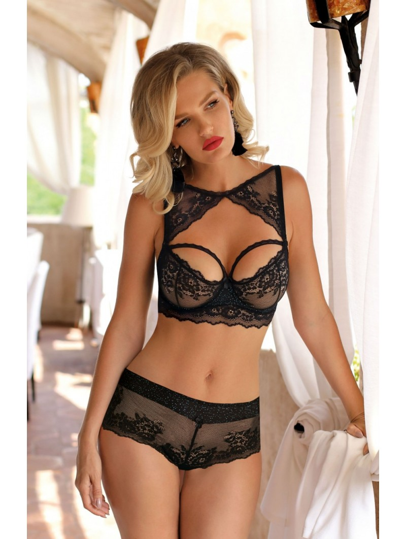 KENA BLACK SOFT CUP BRA