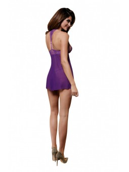 2PC DRESS & THONG PURPLE